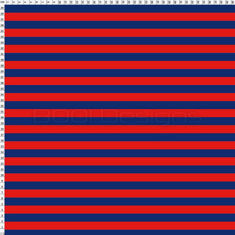 Spandex Stripes 14mm Navy/Red