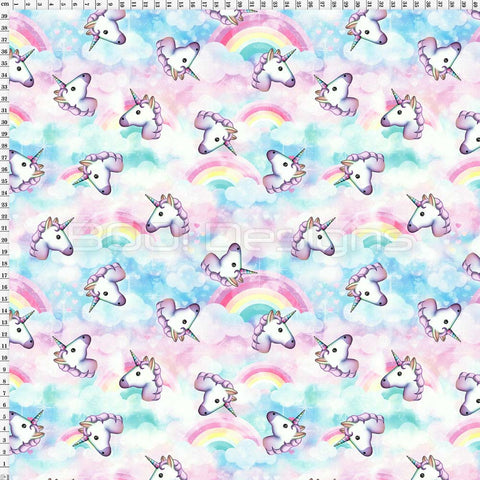 Spandex Pastel Rainbows and Emoji Unicorns