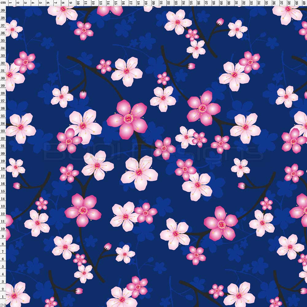 Spandex Blossom Navy Large