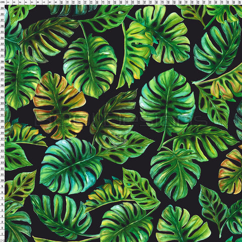 Spandex Zed Monstera Black