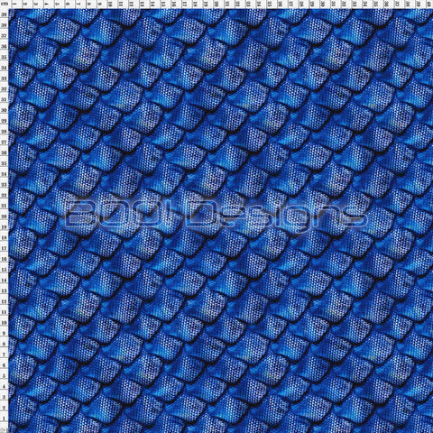 Spandex Scales Blue