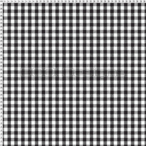 Spandex Gingham Black