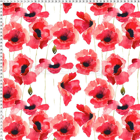 Spandex Poppies Medium