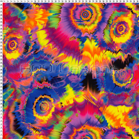 Spandex Tie Dye Purple Multi