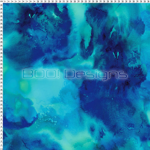 Spandex Water Marble Blue