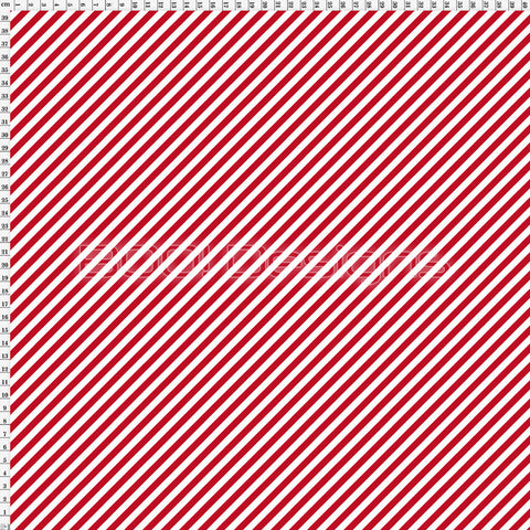 Spandex Stripe Diagonal 5mm Red
