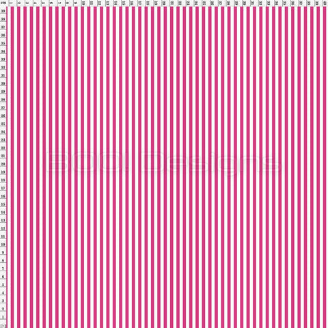 Spandex Stripes 4mm Flamingo Pink