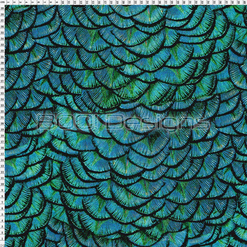 Spandex Dragon Scales Teal