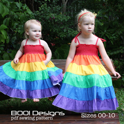 PDF Pattern: Rainbow Twirl Dress