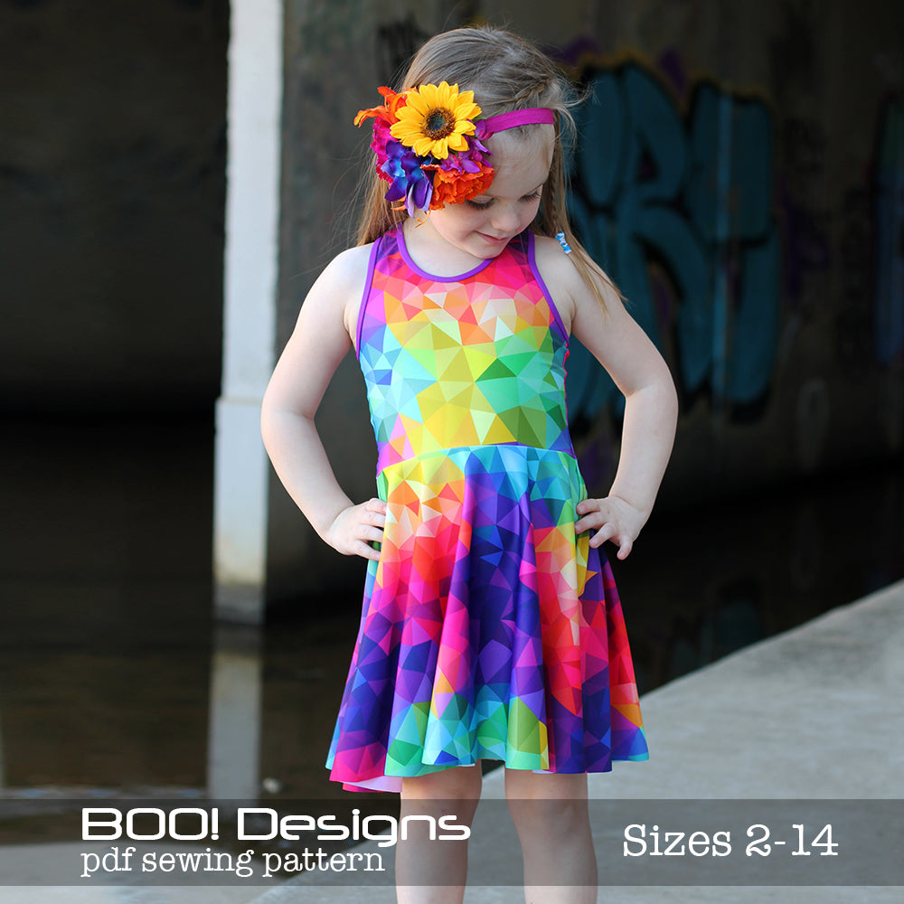 PDF Pattern: Spandex Skater Dress