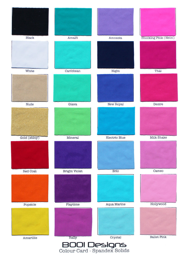 Spandex Solids Swatch Card