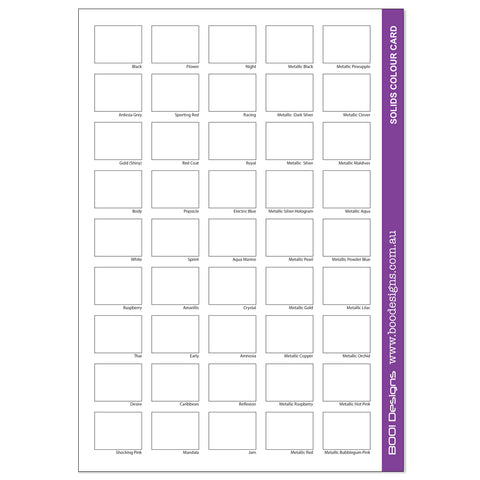 Spandex Solids Swatch Card BLANK - PDF Download