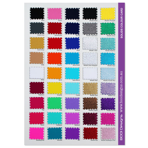 Spandex Solids Swatch Card FILLED