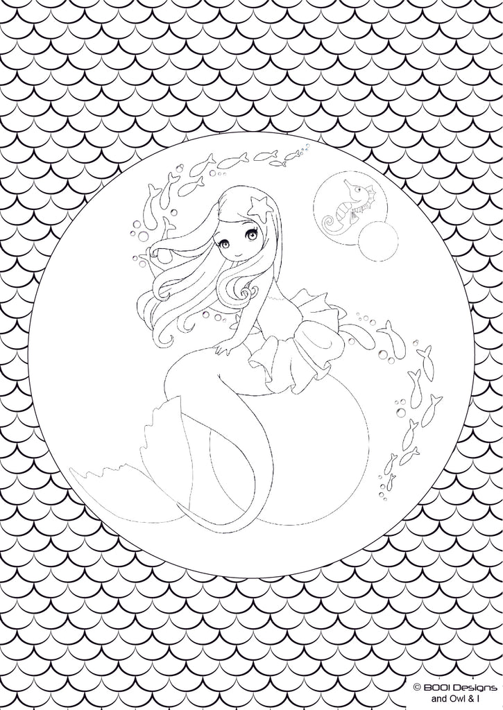 Colouring Page #9 - Mermaid