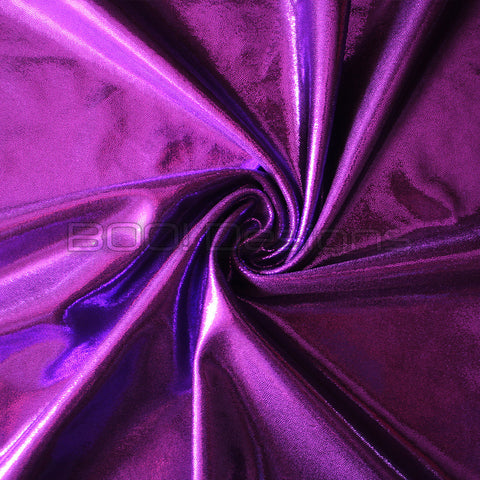 Spandex Metallic Solid Orchid
