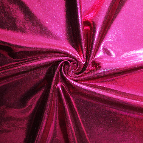 Spandex Metallic Raspberry
