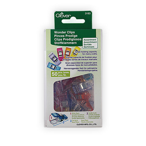 Clover Wonder Clips Rainbow 50 Pack