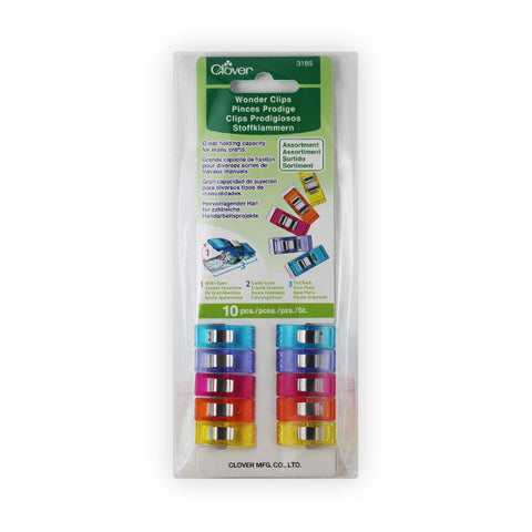 Clover Wonder Clips Rainbow 10 Pack