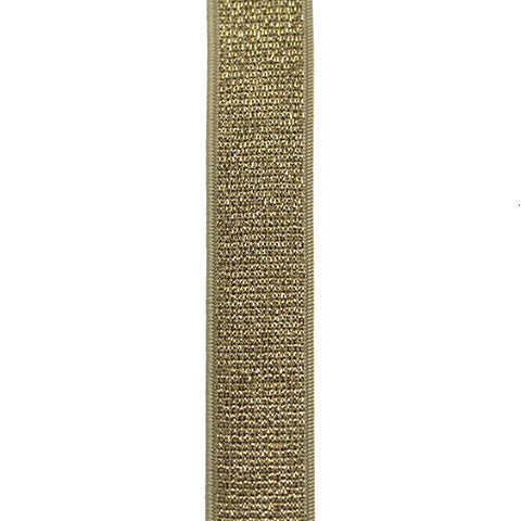 Waistband Elastic 25mm Glitter Gold