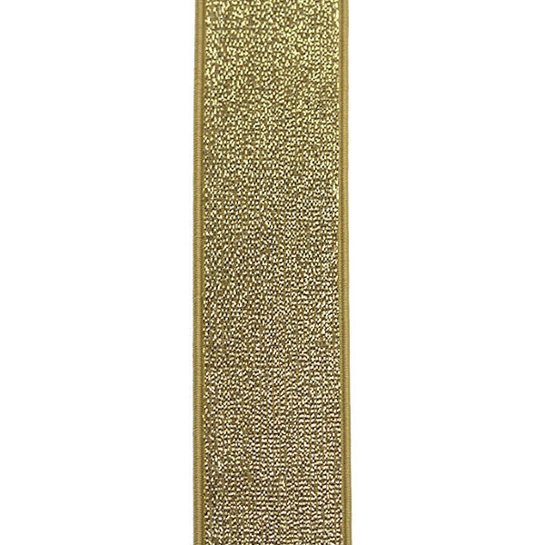 Waistband Elastic 40mm Glitter Gold