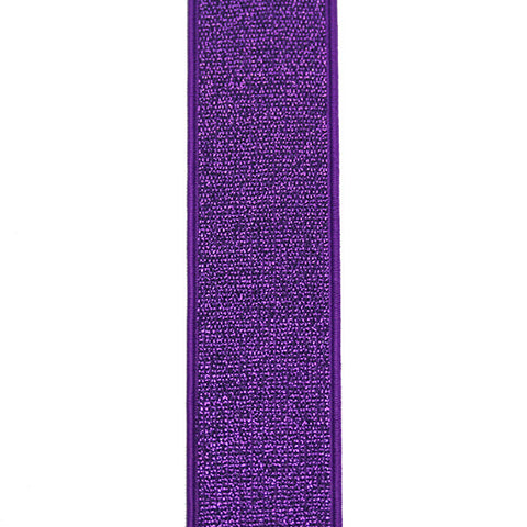 Waistband Elastic 40mm Glitter Purple