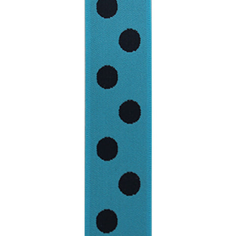 Waistband Elastic 40mm Spot Blue/Black