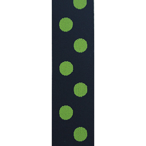 Waistband Elastic 40mm Spot Navy/Lime