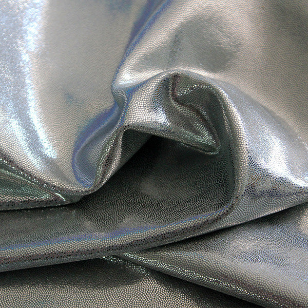 Spandex Metallic Solid Dark Silver