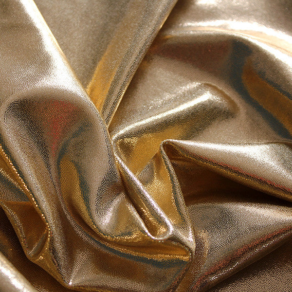 Spandex Metallic Gold