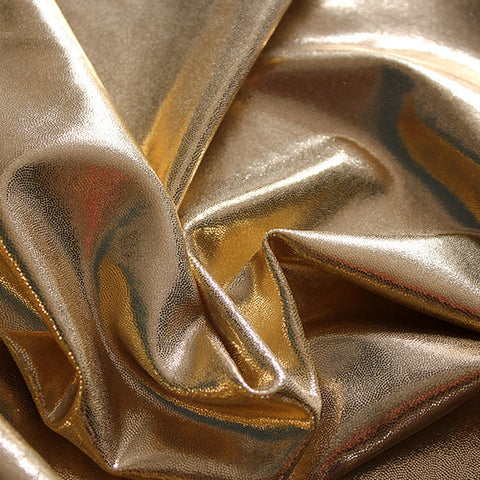Spandex Metallic Solid Gold