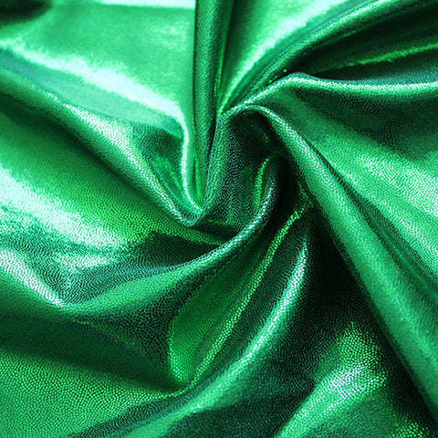 Spandex Metallic Emerald