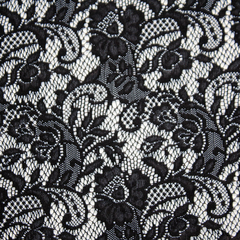 Spandex Stretch Lace Black