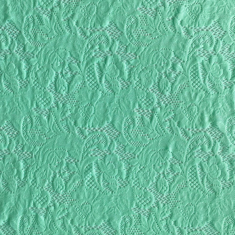 Spandex Stretch Lace Spearmint
