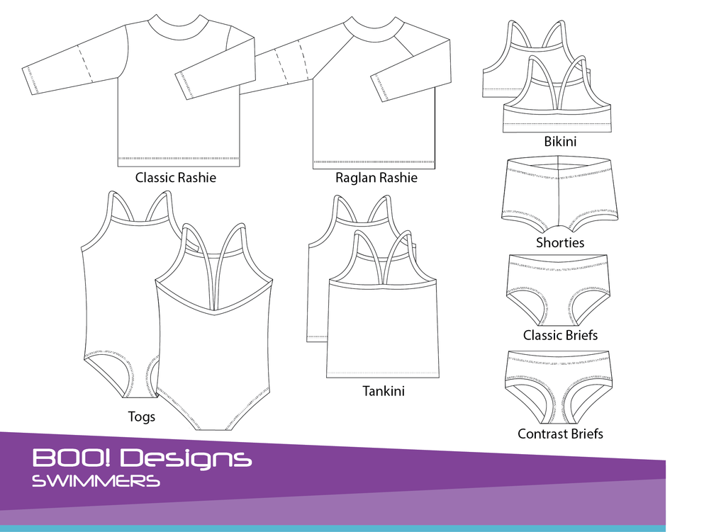 PDF Pattern: Swimmers – BOO! Designs