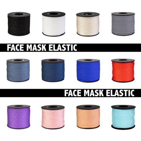 Face Mask Elastic 4mm x 30m ROLL