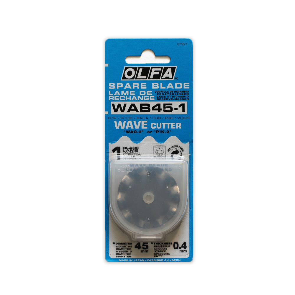 Olfa Rotary Wave Cutter 45mm Replacement Blade