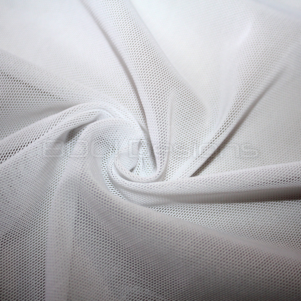 Spandex Power Mesh Heavy Weight White