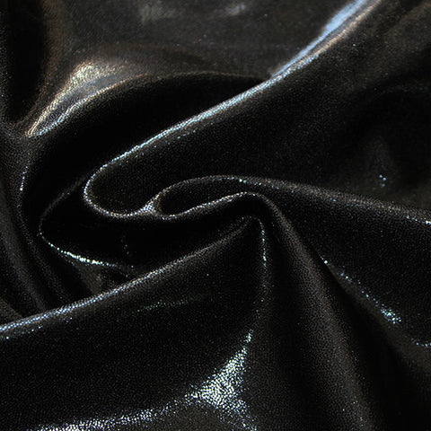 Spandex Metallic Solid Black