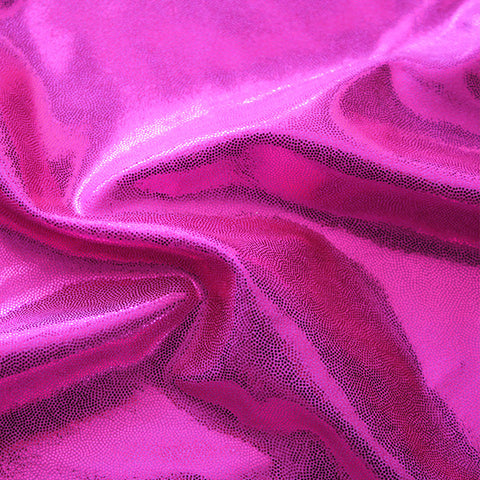 Spandex Metallic Solid Hot Pink
