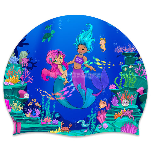 Silicone Swimming Cap Mermaids