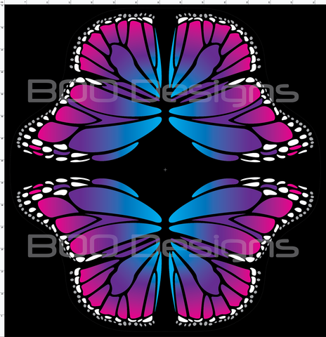 Spandex Butterfly Wings Pink/Blue Small