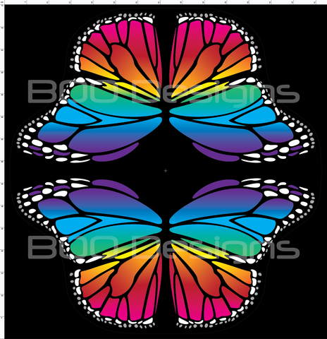Spandex Butterfly Wings Rainbow Small