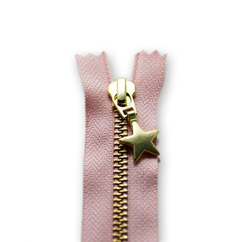 18cm Zip Gold Star Cameo 364