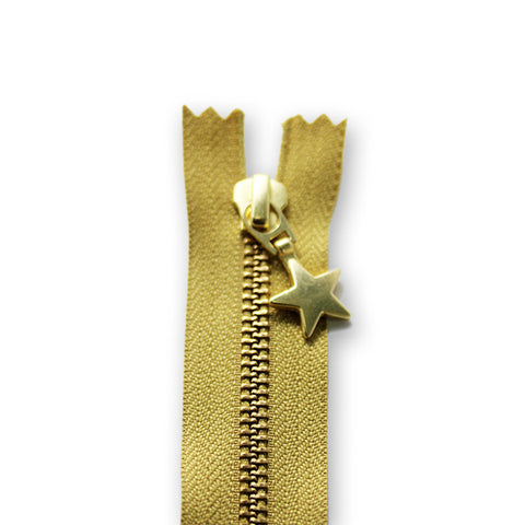 18cm Zip Gold Star Gold 845
