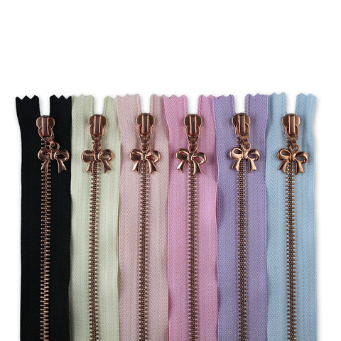 18cm Zip Bundle Copper Bows