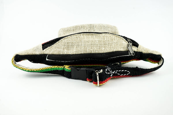 Tagless Rasta Hemp Boho Hip Sack - Fanny Pack