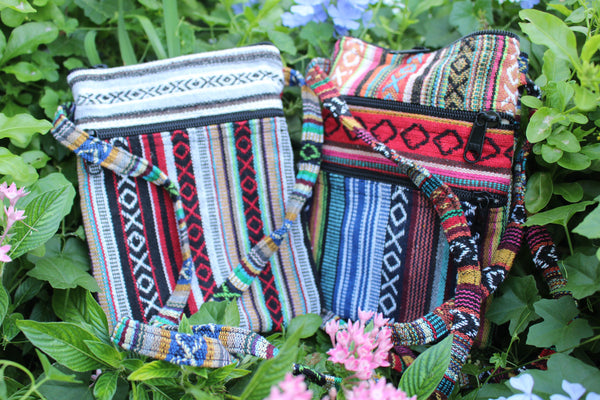 2-Pack Hippie Boho Festival Bag - Quality Handmade Shoulder Bag Unique Variety