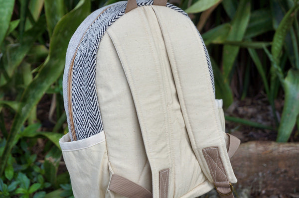 SINMINT - Small Mini Hemp Boho Backpack - Handmade in The Himalayas