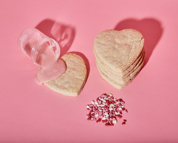 12 Heart Shaped Sugar Cookies