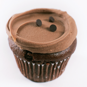 Brownie Cupcake with Chocolate Frosting
